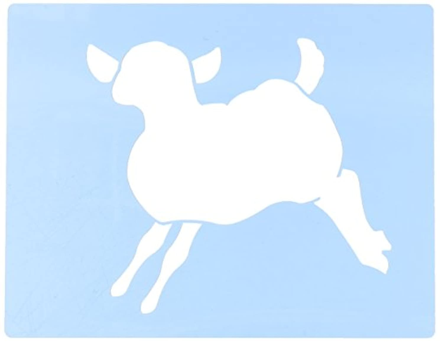 Faux Like a Pro Baby Lamb Stencil, 5.5 by 7-Inch, Single Overlay