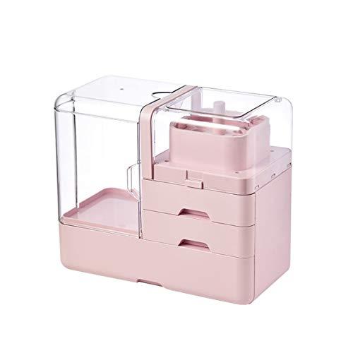 MxZas Make-up-Display-Boxen Makeup-Box Aufbewahrungsbox Staubdicht tragbarer tragbarer Desktop-Ankleide-Tisch, um Hautpflegeprodukte zu organisieren Make-up-Caddy-Halter