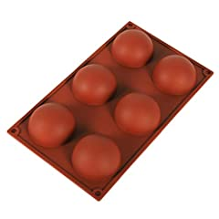 💖💖Material: Food grade silicone 💖💖Size: 30x17.5 x3.5cm 💖💖Color :coffee 💖💖Shape: Silicone Half Ball Mold 💖💖Package Included:1x Cake Fondant Mould