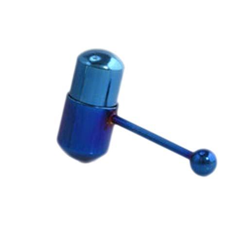 Elibeauty Zungenpiercing, Edelstahl, vibrierend, Blau