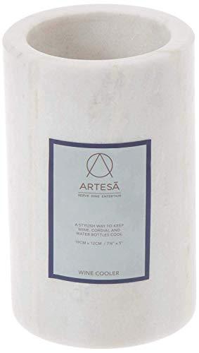 KitchenCraft artesà ARTWCOOL Marmor Weinkühler, 12 x 12 x 19 cm, Weiß