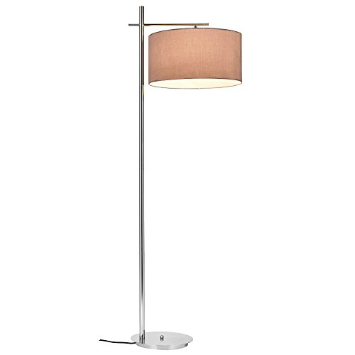 [lux.pro] Lámpara de pie Elegante London E27 / 60 W / 230 V Gris-Cromo 155cm - 46 cm