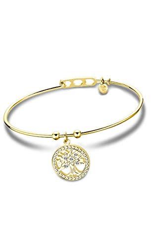 Lotus Style Pulsera ÁRBOL DE LA Vida para Mujer (Dorado)