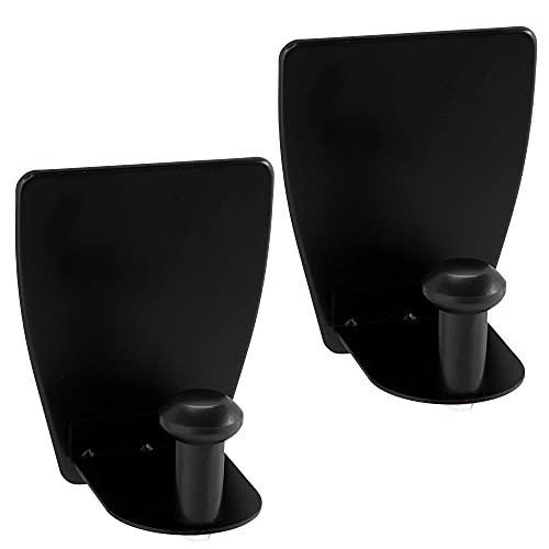 ECENCE 1x Portarrollos magnético taller, portarrollos cocina sin taladrar, soporte para paños, Negro