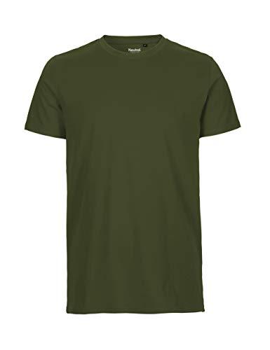 -Neutral- T-Shirt, 100{65643d60a67884e4231a455c6e32caf73272092d389f7829411447a5837dac1d} Bio-Baumwolle. Fairtrade, Oeko-Tex und Ecolabel Zertifiziert, Textilfarbe: Olive, Gr.: 3XL