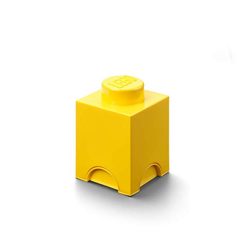 LEGO Storage - Caja de Almacenamiento, Color Amarillo (Room Copenhagen 40010732)