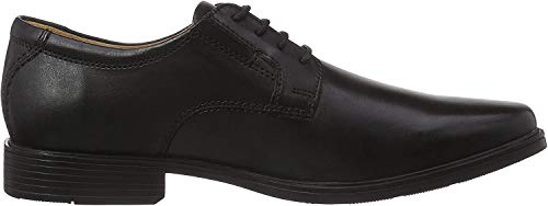 Clarks Men's Tilden Plain Derby, Schwarz (Black Leather), 42.5 EU