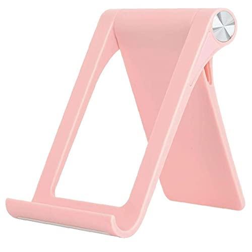 Sanfiyya Soporte para teléfono Plegable Tablet Soporte Ajustable de la Tableta en Rack Muelle de la Horquilla para Smartphone Tablet Rosa móvil Artefacto