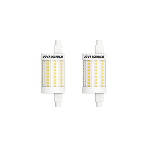 Sylvania R7S LED 78mm Stablampe - LED Halogen Ersatz (8 Watt, 1055 lm, Lichtfarbe: 2700 K), LED Leuchtmittel warmweiß (2x) [Energieklasse A++]