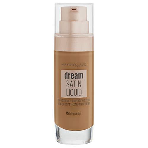 Maybelline Dream Satin Foundation Make-up Fluido 30 ml 53 Braun (Classic Tan)