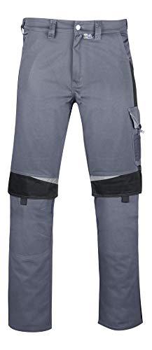 PKA Bundhose Bestwork, robuste Arbeitshose mit vielen Taschen(Grau/Schwarz, 48)