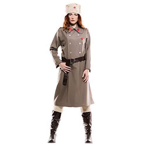 EUROCARNAVALES, SA Russin Kostüm grau für Damen M/L