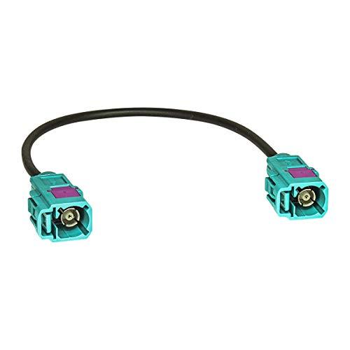 tomzz Audio 1600-015 Fakra Antennen-Verlängerung 15cm Fakra Buchse (F) auf Fakra Buchse (F), Kabel RG174, Typ Z codiert