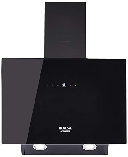 Inalsa 60cm 1100 m3/hr Chimney (Ritz 60TCAC, Cassette Filter, Touch Control, Black)