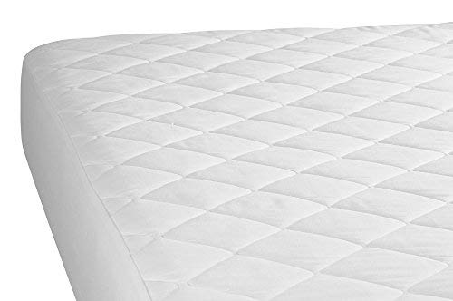 4ft Three Quarter Bed Quilted Poly Cotton Mattress Protector by Unknown