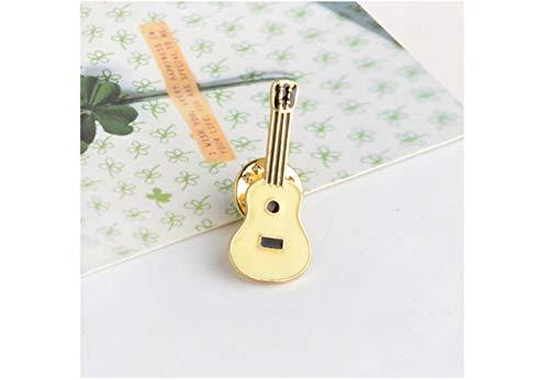 SUZHENA Brosche Hut Gitarre mexikanischen Kaktus Emaille Abzeichen Broschen Metall Mädchen Jeans Tasche Dekoration Geschenk Modeschmuck, Gitarre