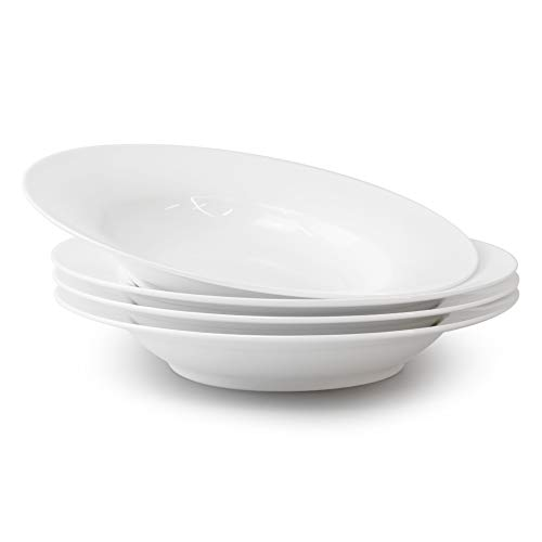 Bravo Casa Fine Bone China Pasta Salad Bowl-9-inch Plate Set for Pasta...