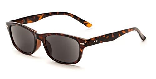 1.50 Schildkröte Braun Lesebrille Sonnenbrille UV Schutz Getönte Gläser Männer Frauen Retro Vintage Zeitlos Fall Stoff
