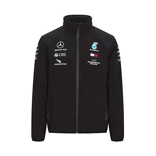 MERCEDES AMG PETRONAS Motorsport Formel 1 Team F1 Fahrer Softshell Jacke - Schwarz - XL