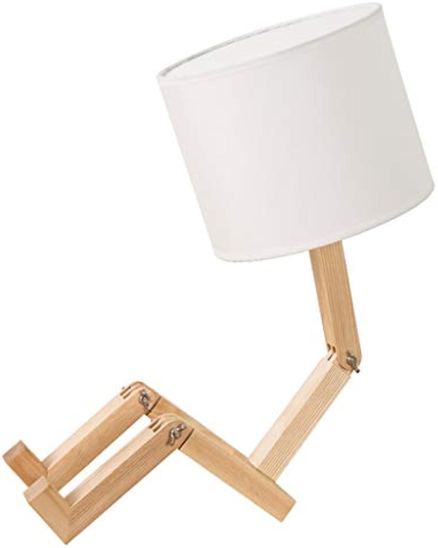 Wang Lining Tischlampe Holzfu Tischlampe Moderne Kreative Design Lampe Schlafzimmer Wohnzimmer Nachttischlampe (ohne Glühbirne) (Farbe   A)