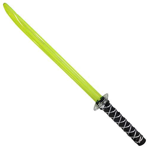 DDS Ninja Lichtschwert mit Sound und Licht - Laserschwert mit Kampfgeräuschen beim schwingen | LED Spielzeug Schwert für Kinder in Rot Blau oder Grün | Ninjaschwert zu Karneval als Kostüm (Schwarz)