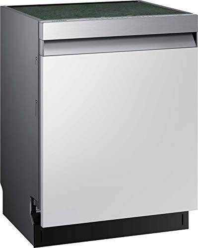 Samsung DW7500 DW60R7050SS/EG Teilintegrierter Einbau-Geschirrspüler/Breite 59,8 cm / 14 Maßgedecke/A+++ / Automatische Türöffnung/Leise-Funktion/Hygiene-Funktion/Silber