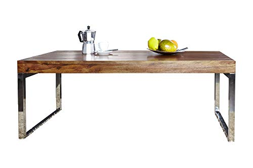 DuNord Design Couchtisch Beistelltisch Stage 100cm Palisander Sheesham Massiv Holz Sofatisch