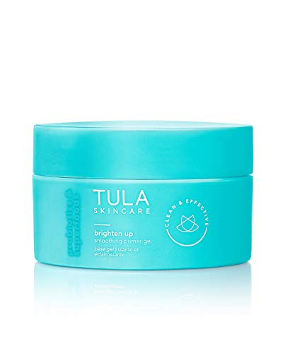 TULA Skin Care Brighten Up Smoothing Primer Gel | Silicone-Free, Non-Comedogenic Face Primer Grips Makeup, Infused with Yuzu and Willowherb | 1.41 fl. oz.