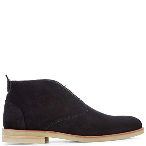 H By Hudson Mens Bedlington Cow Suede Work Office Formal Chukka Boots - Black - 10