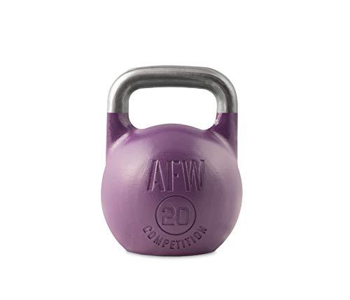 AFW Competition Kettlebell, Pesa Rusa, Adultos Unisex, Morado, 20 kg