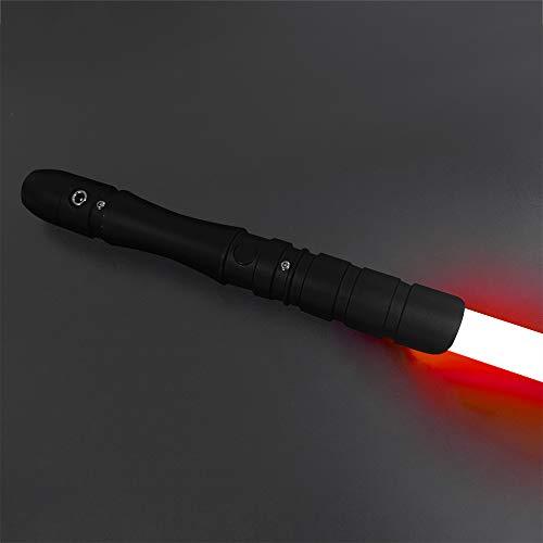 YDD Lightsaber Jedi Sith Aluminum Hilt 16 Colors Changing Led Light Saber Support Heavy Dueling for Adult (Black hilt RGB Blade)