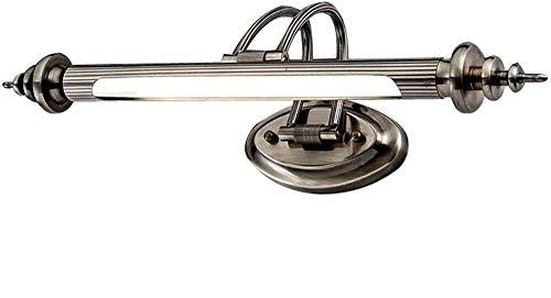 Modern LED Metall Spiegelleuchte Spiegellampe Wandleuchte Badezimmer Make Up Spiegel Licht Wasserdicht Wandlampe Badzimmer Küche Weiße Licht 6000K, 75cm