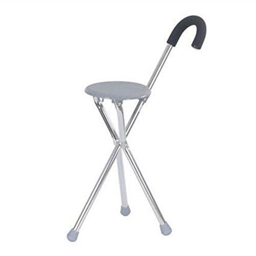 Crutch Oudere Man Walker Rietstoel Medische hulp Driebenige krukken Krukken Vouwen Voet Rietkruk Lichtgewicht En Stabiel