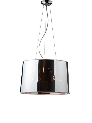 Ideal Lux London SP5 Lampada a Sospensione E27, Cromo