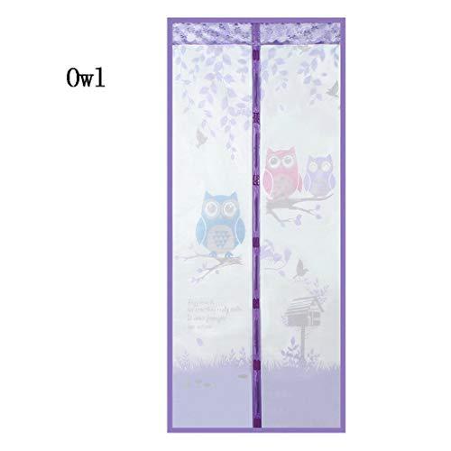 LXMJ Magnetisch gordijn, zelfabsorberend, muggenbescherming, zomerventilatie en gordijn van polyestervezel, bestand tegen vliegen, eenvoudig aan te brengen (90 x 210 cm, 100 x 210 cm)