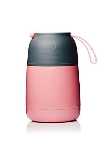 BOHORIA® Thermobehälter Lunchbox   Hochwertiger Isolierbehälter   Edelstahl   Thermo Gefäß für Babynahrung   Premium Speisebehälter   Warmhaltebox (Rosa)