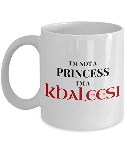 No soy una princesa Soy una taza de café Khaleesi, blanca - Regalos únicos