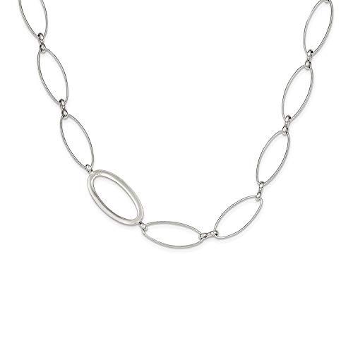 Collar de plata de ley 925 pulido con cierre de langosta de lujo para mujer, 107 cm