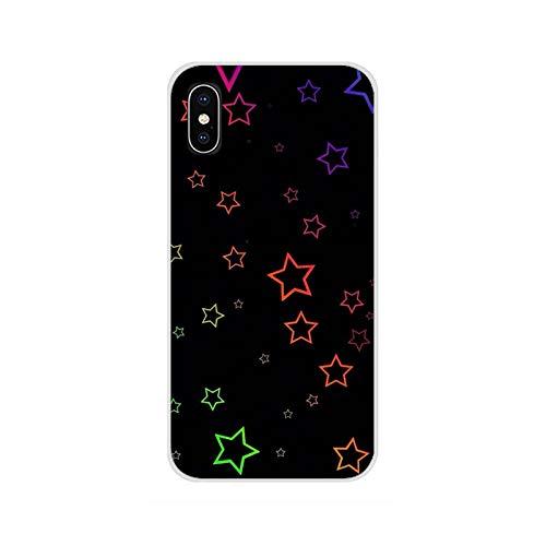 Accesorios Fundas de teléfono Fundas de estrella colorida para iPhone X XR XS 11 12Pro MAX 4S 5C SE 2020 6S 7 8 Plus iPod 5 6-imágenes 11-Para iPhone 7 8 Plus