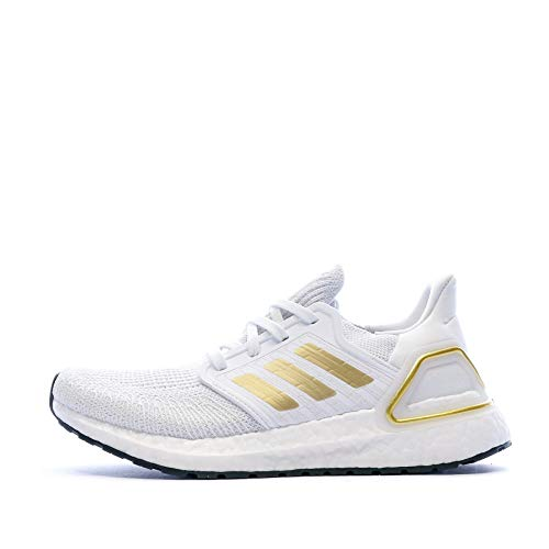 ADIDAS DVF22-EG0727, Zapatillas de Gimnasio Mujer, Blanco/Gold Metallic/Negro, 36 2/3 EU