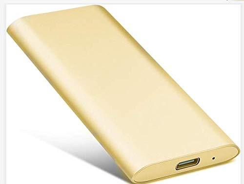 Hard disk esterno portatile USB 3.0, hard disk esterno per PC, laptop, PS4, Xbox one, Mac A-dorato 2 TB