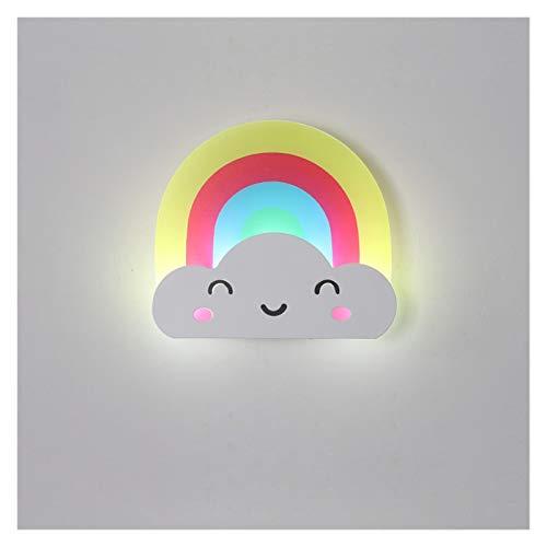 Lámpara de Pared Luz de pared de escoce para escaleras de dormitorio Espejo Lámpara LED Lámpara moderna Sala de estar para niños Decoración interior Inicio Iluminación Acrílico Accesorio Promoción