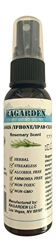 RAGARDEN Eyeglasses/iPhone/iPad Cleaner. Rosemary Floral Water. 2 oz Spray Bottle.