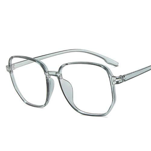 LSCC Myopia Brille Frauen Männer Vintage übergroße Brillen Student Short Sight Eyewear, BLAU