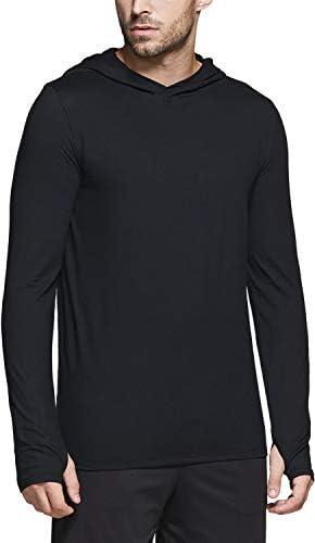 TSLA Men s Long Sleeve Running Hoodie Lightweight Sports Sweatshirt Active Performance Hooded product image