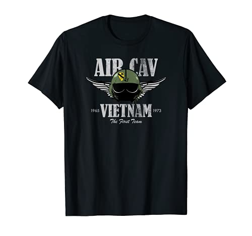 Air Cav Vietnam Huey Casque pilote Effet vieilli T-Shirt