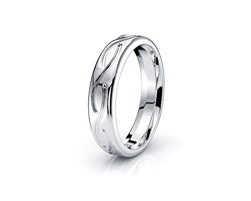 Alganati 10K White Yellow Gold 4mm Infinity Celtic Knot Wedding Band Rings