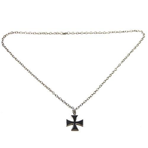 Halskette mit Anhänger EISERNES KREUZ Herrenkette Biker Iron Cross nickelfrei