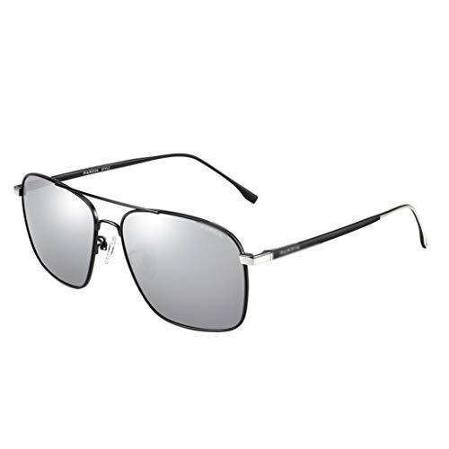 duhongmei123 Mode Brillen Polarisierte Sonnenbrille Metallspiegel mit quadratischem Rahmen for Piloten-Sonnenbrillen Zubehör (Color : A)