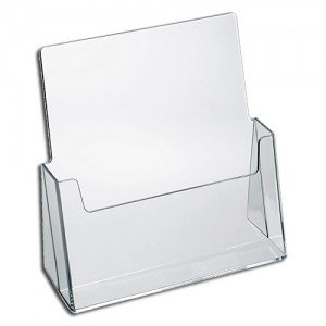 SOURCEONE.ORG Source One Premium Counter Top Full Size, 8.5 x 11 Inches Wide Acrylic Brochure Holder